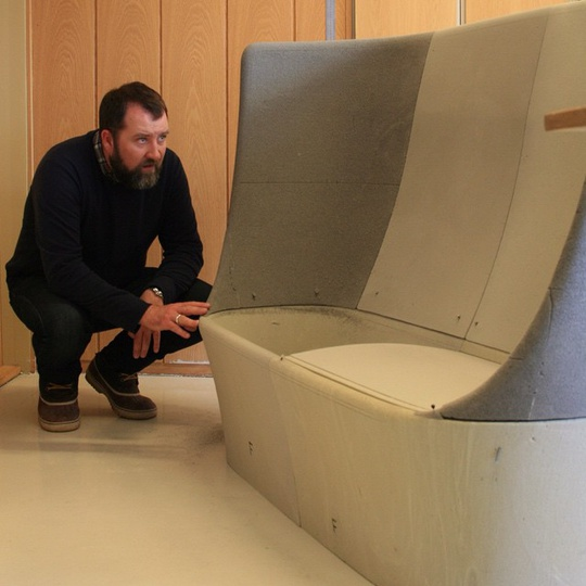 Production model... #tbt #librarysofa #library #sofa #michaelsodeau #modusfurniture #modus #simplicity #moulding #design #production #model #furniture #michaelsodeaustudio #furniture #contemporarydesign #norway @modusfurniture
