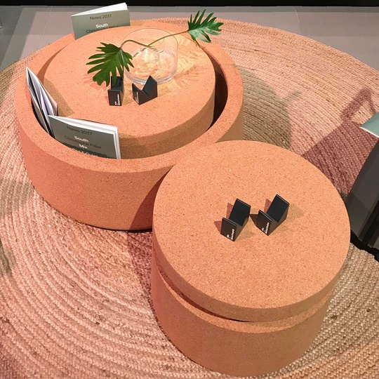 Abe & Arne Recycled Cork Tables for @modusfurniture on show at Salone Del Mobile Hall 20 E20... #modusfurniture #artisan #simplicity #functional #attentiontodetail #michaelsodeaustudio #michaelsodeau #Milano #madebyhand #recycled #furniture #natural @isaloniofficial