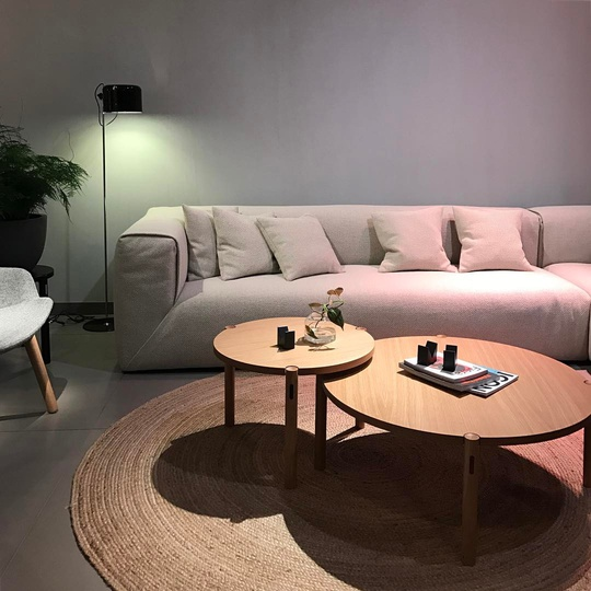 PAC sofa system for @modusfurniture launching at Salone Del Mobile Hall20 E20... #PAC #salonedelmobile #modusfurniture #simplicity #madebyhand #michaelsodeaustudio #michaelsodeau #design #Milano