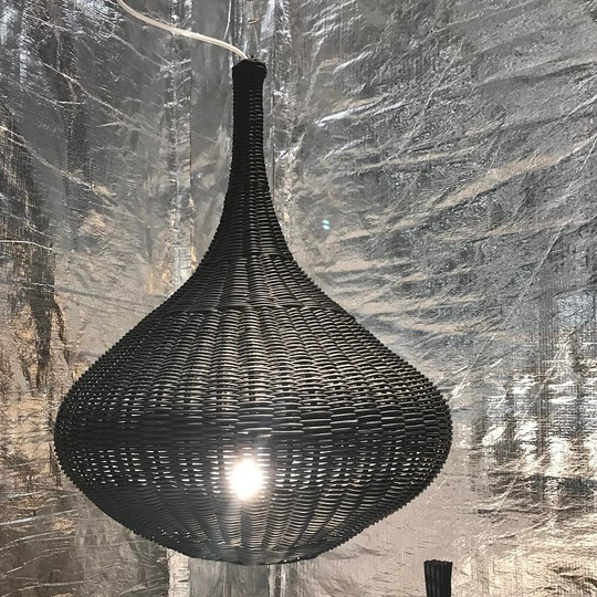 Spin pendant lamp designed for @gervasoni1882 at Salone Del Mobile Hall5 F15... #madebyhand #Milano #gervasoni #michaelsodeaustudio #michaelsodeau #woven #simplicity #moderncraft #artisan #design #lamp @isaloniofficial