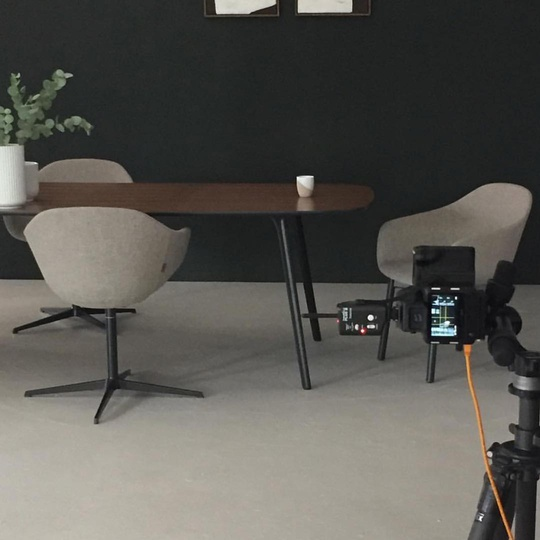 Quiet Chair we designed for @modusfurniture during a recent shoot, showing both the pedestal and stained oak leg versions... #quietchair #design #simplicity #modern #design #London #modus #modusfurniture #meetingchair #diningchair #michaelsodeaustudio